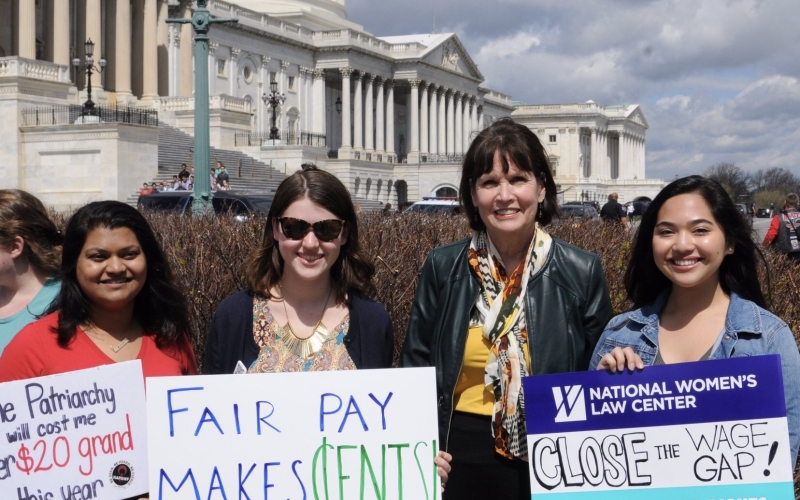Congresswoman McCollum attends introduction of Paycheck Fairness Act.
