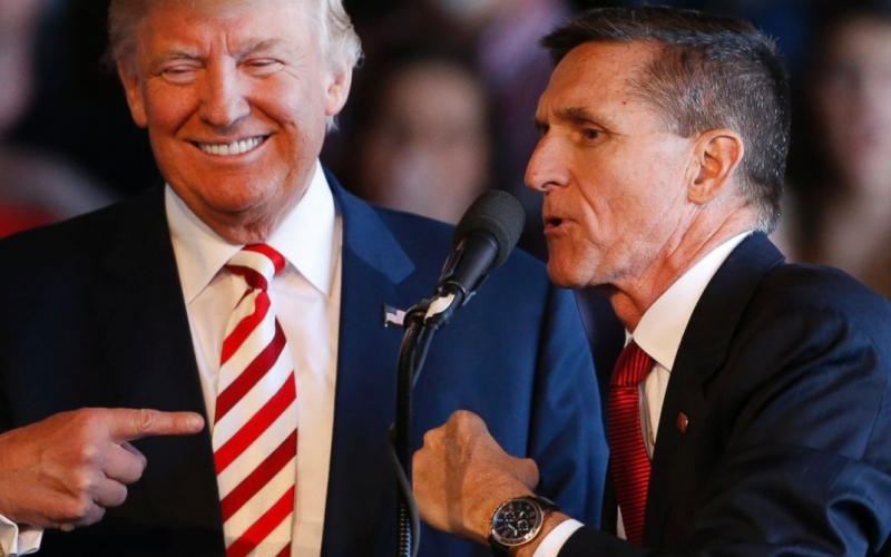 President Donald Trump and disgraced former National Security Advisor Michael Flynn.