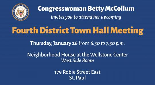 Join Congresswoman McCollum's Jan. 26 Town Hall Meeting feature image