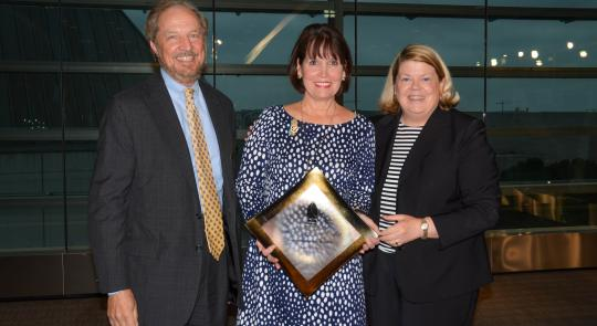Representative McCollum receives the Bruce F. Vento Public Service Award.