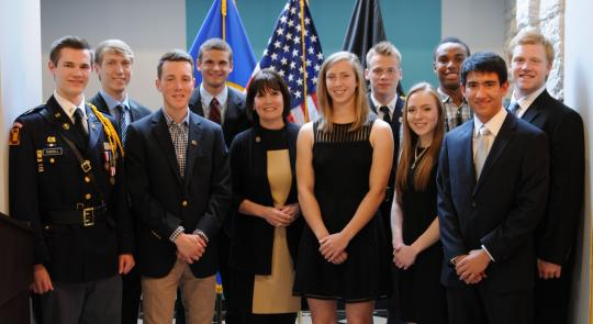 Rep. McCollum with residents set to attend U.S. Service Academies.