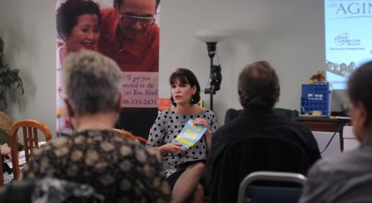 Congresswoman McCollum talks with seniors about Medicare.
